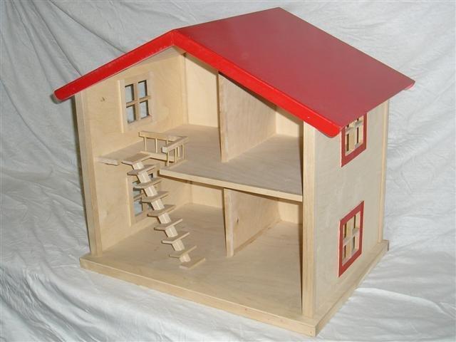 Houten speelgoed bedden for Barbiehuis aanbieding